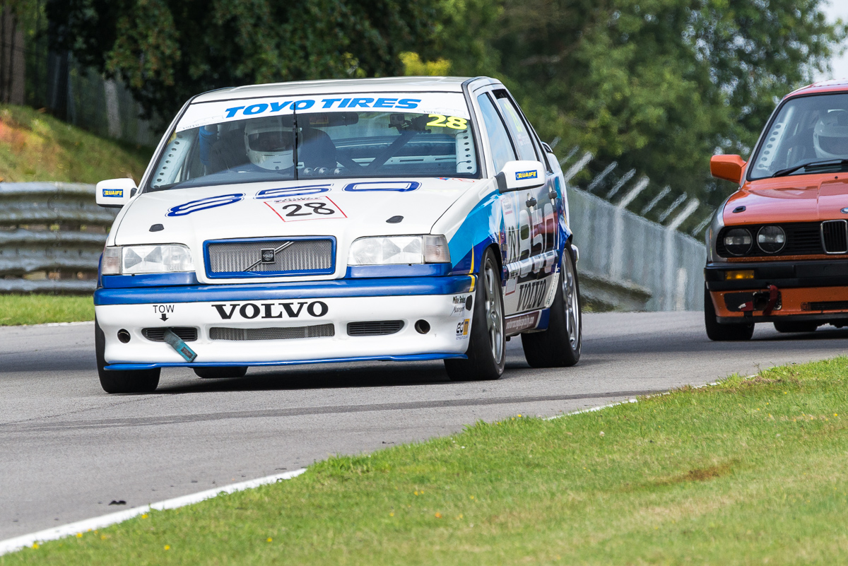 John Tempest's Volvo race car currently entered in Project 8 Racing Saloons